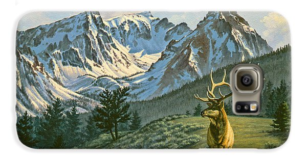 Bull Galaxy S6 Case - Trapper Peak - Bull Elk by Paul Krapf