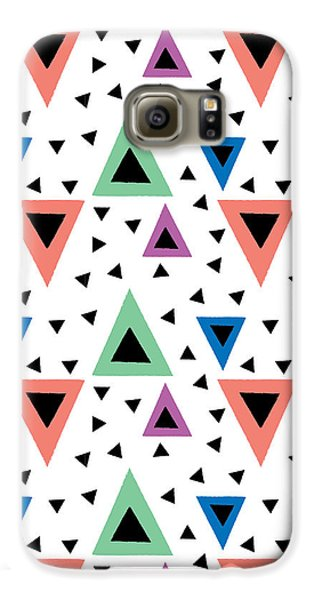 Triangular Dance Repeat Print Galaxy S6 Case by Susan Claire