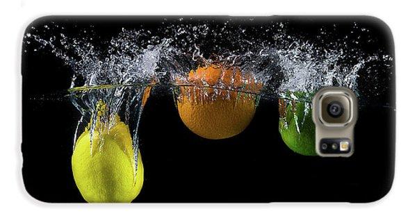 Colours Galaxy S6 Case - Triple Citrus Splash by Mogyorosi Stefan
