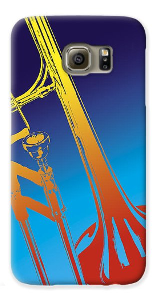 Trombone Galaxy S6 Case - Trombone by Daniel Troy