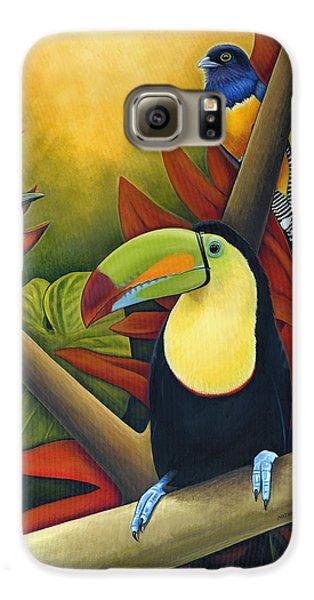 Toucan Galaxy S6 Case - Tropical Birds by Nathan Miller