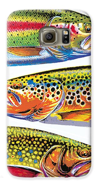 Trout Abstraction Galaxy S6 Case by JQ Licensing