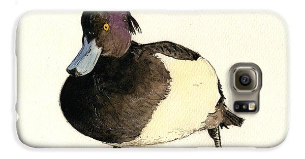 Duck Galaxy S6 Case - Tufted Duck by Juan  Bosco