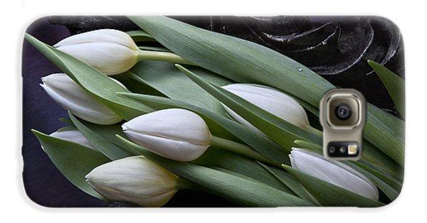 Tulip Galaxy S6 Case - Tulips Laying In Wait by Tom Mc Nemar