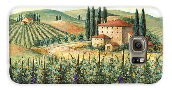 Tuscan Vineyard And Villa Galaxy S6 Case