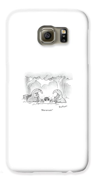 Ant Galaxy S6 Case - Two Anteaters On A Picnic Wait For Ants To Come by David Borchart
