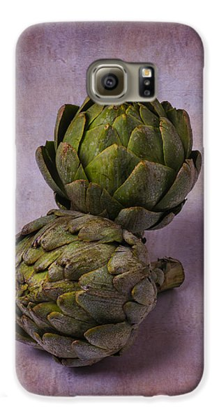 Two Artichokes Galaxy S6 Case by Garry Gay