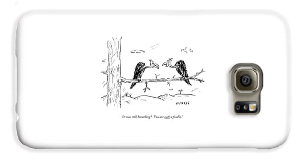 Two Buzzards Sit And Talk On A Branch Galaxy S6 Case