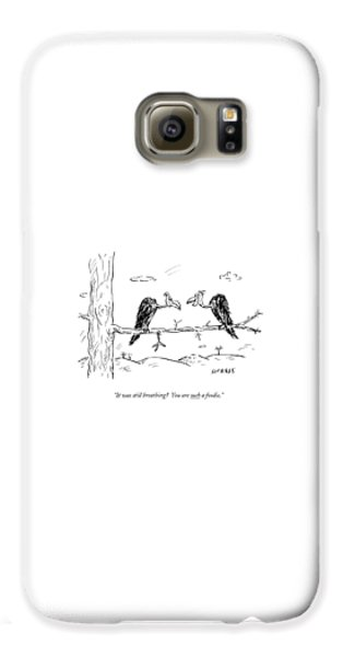Vulture Galaxy S6 Case - Two Buzzards Sit And Talk On A Branch by David Sipress