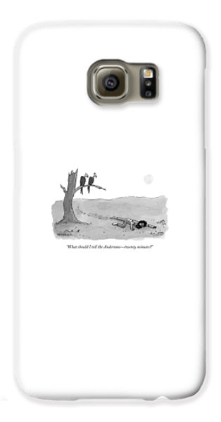 Vulture Galaxy S6 Case - Two Vultures Watch A Man Crawl by Jason Patterson