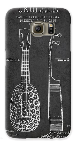 Ukulele Patent Drawing From 1928 - Dark Galaxy S6 Case