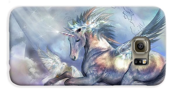 Unicorn Of Peace Galaxy S6 Case by Carol Cavalaris