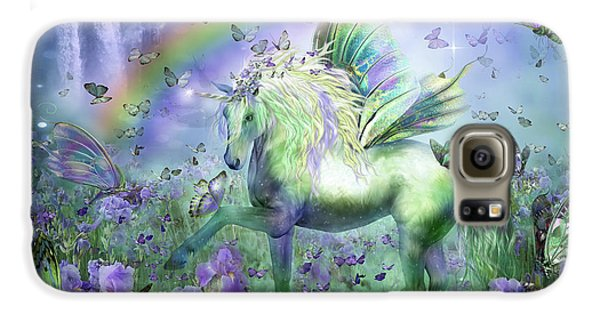 Unicorn Of The Butterflies Galaxy S6 Case by Carol Cavalaris