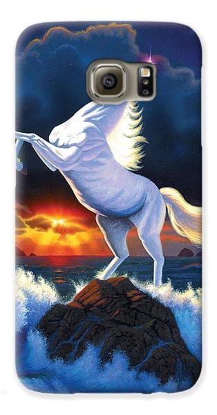 Unicorn Raging Sea Galaxy S6 Case