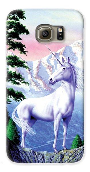 Unicorn The Land That Time Forgot Galaxy S6 Case by Garry Walton