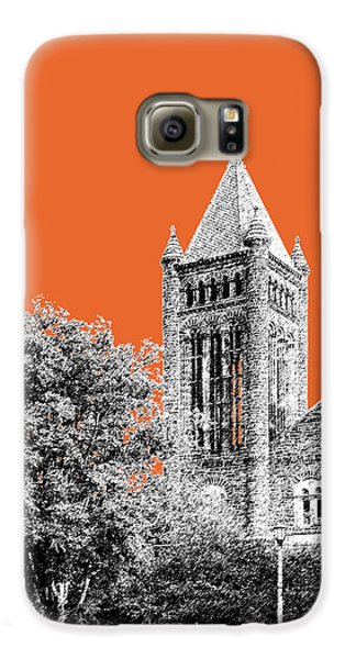 University Of Illinois 2 - Altgeld Hall - Coral Galaxy S6 Case by DB Artist