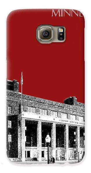 University Of Minnesota - Coffman Union - Dark Red Galaxy S6 Case