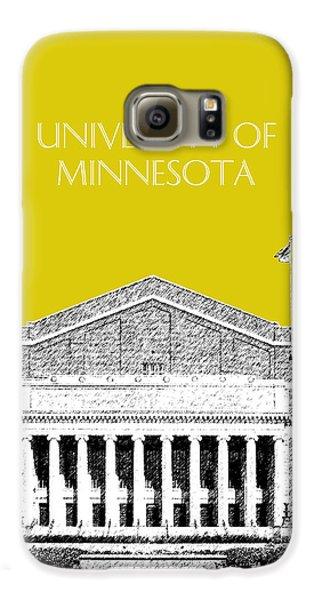 University Of Minnesota 2 - Northrop Auditorium - Mustard Yellow Galaxy S6 Case by DB Artist