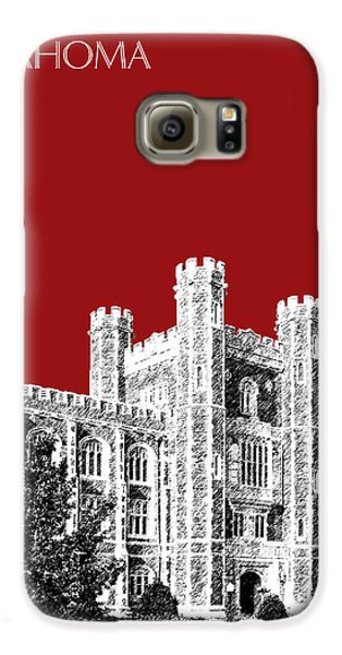 University Of Oklahoma - Dark Red Galaxy S6 Case by DB Artist