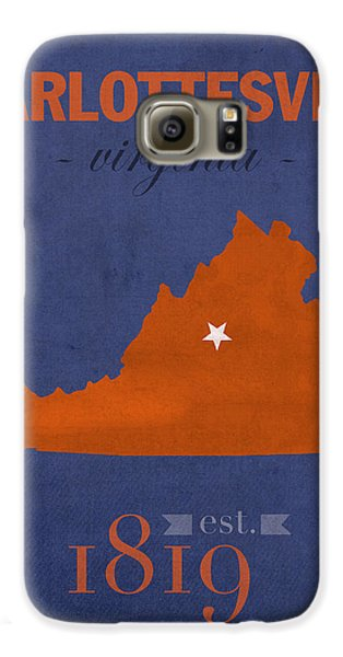 University Of Virginia Cavaliers Charlotteville College Town State Map Poster Series No 119 Galaxy S6 Case by Design Turnpike
