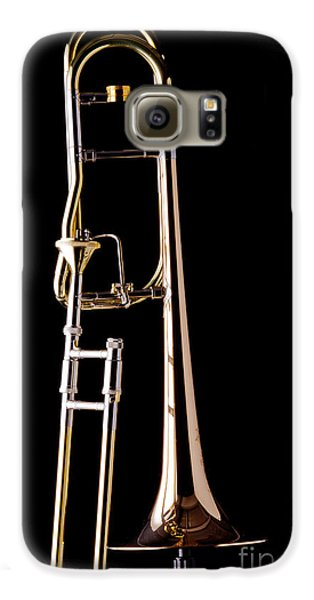 Trombone Galaxy S6 Case - Upright Rotor Tenor Trombone On Black In Color 3465.02 by M K  Miller