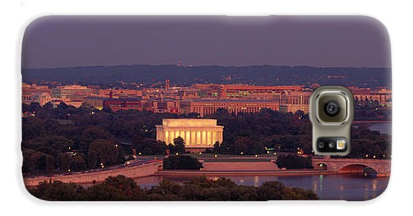 Usa, Washington Dc, Aerial, Night Galaxy S6 Case by Panoramic Images