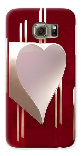 Valentine Paper Heart Galaxy S6 Case by Gary Eason