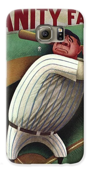 Vanity Fair Cover Featuring Babe Ruth Galaxy S6 Case by Miguel Covarrubias