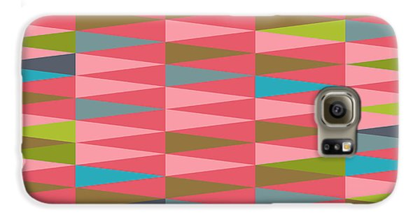 Magician Galaxy S6 Case - Vector Abstract Geometric Triangle by Babayuka