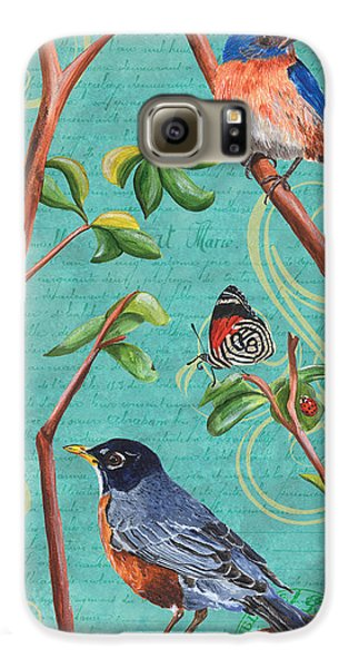 Verdigris Songbirds 1 Galaxy S6 Case by Debbie DeWitt