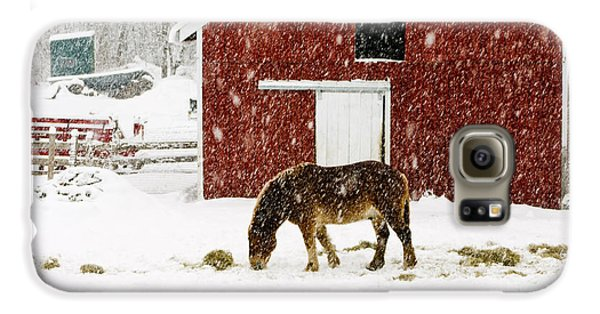 Vermont Christmas Eve Snowstorm Galaxy S6 Case