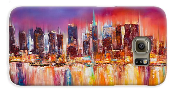 Empire State Building Galaxy S6 Case - Vibrant New York City Skyline by Manit
