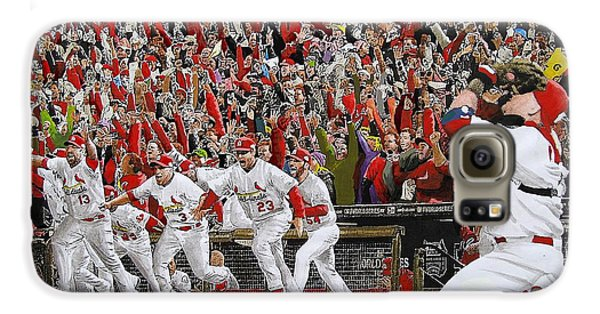 Cardinal Galaxy S6 Case - Victory - St Louis Cardinals Win The World Series Title - Friday Oct 28th 2011 by Dan Haraga