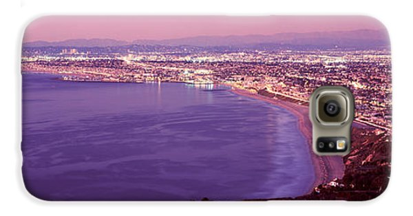 View Of Los Angeles Downtown Galaxy S6 Case by Panoramic Images