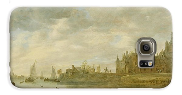 View Of The Castle Of Wijk At Duurstede Galaxy S6 Case by Jan van Goyen