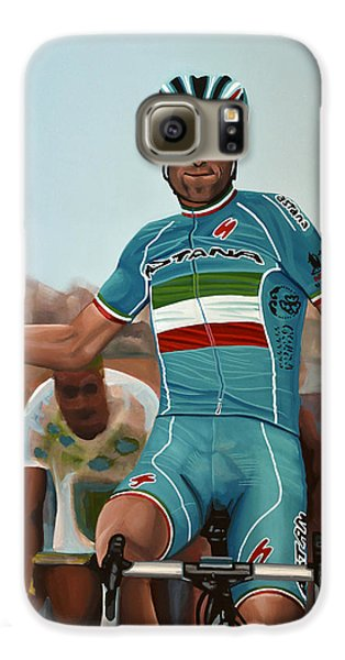 Vincenzo Nibali Painting Galaxy S6 Case by Paul Meijering