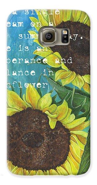 Sunflower Galaxy S6 Case - Vince's Sunflowers 1 by Debbie DeWitt