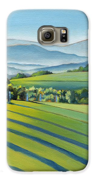 Vineyard Blue Ridge On Buck Mountain Road Virginia Galaxy S6 Case by Catherine Twomey