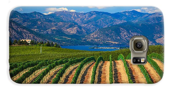 Vineyard In The Mountains Galaxy S6 Case by Inge Johnsson