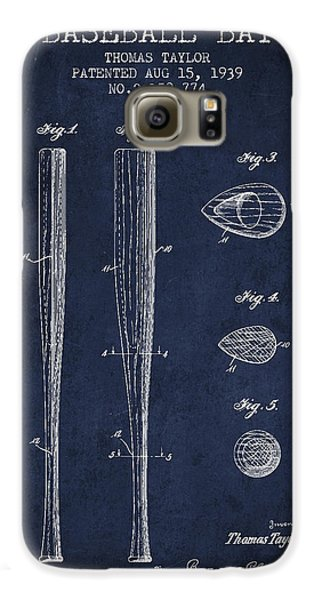 Vintage Baseball Bat Patent From 1939 Galaxy S6 Case by Aged Pixel
