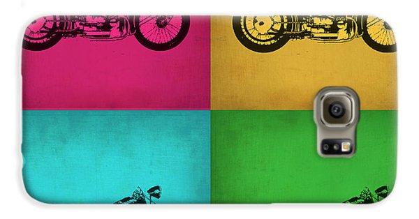 Motorcycle Galaxy S6 Case - Vintage Bike Pop Art 1 by Naxart Studio