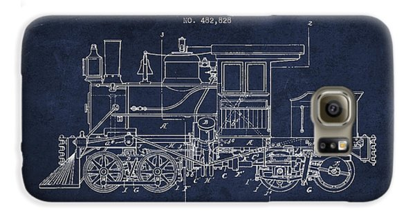 Vintage Locomotive Patent From 1892 Galaxy S6 Case by Aged Pixel