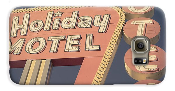 Travel Galaxy S6 Case - Vintage Motel Sign Holiday Motel Square by Edward Fielding