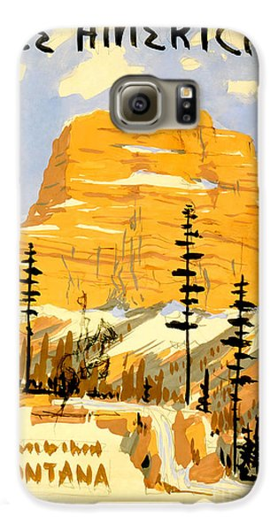 Travel Galaxy S6 Case - Vintage See America Travel Poster by Jon Neidert