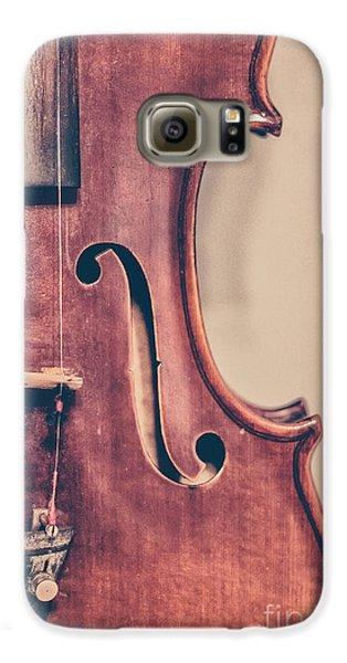 Violin Galaxy S6 Case - Vintage Violin Portrait 2 by Emily Kay