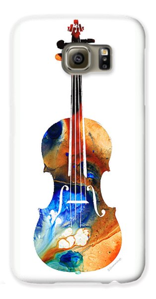 Violin Art By Sharon Cummings Galaxy S6 Case by Sharon Cummings