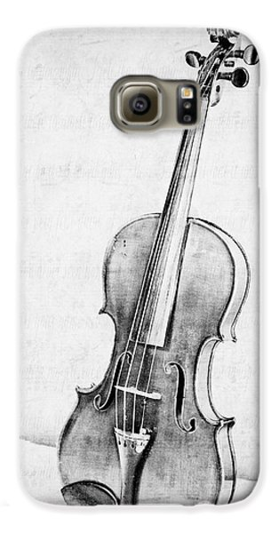 Violin Galaxy S6 Case - Violin In Black And White by Emily Kay