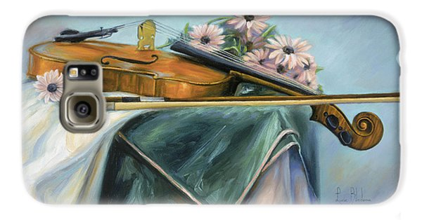 Violin Galaxy S6 Case - Violin by Lucie Bilodeau