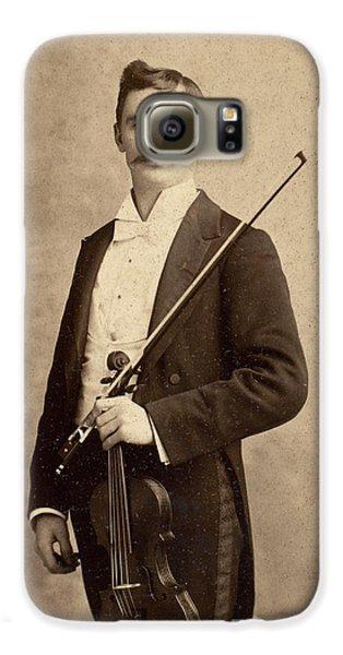 Violin Galaxy S6 Case - Violinist, C1900 by Granger