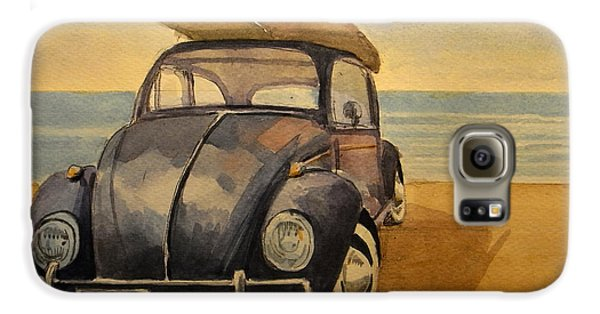 Beetle Galaxy S6 Case - Volkswagen Beetle by Juan  Bosco